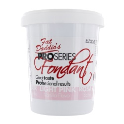 Fat Daddios Fondant - 8 oz. - Lt. Pink LARGE