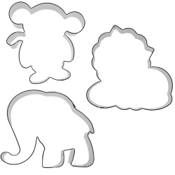 Jungle Animal Cookie Cutter Set LARGE