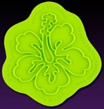 Marvelous Molds Silicone Onlay - Hibiscus Medallion THUMBNAIL