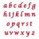 Marvelous Molds Flexabet - Calligraphy Lowercase THUMBNAIL