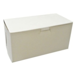 "White Bakery Box - 8"" x 4"" x 4"""