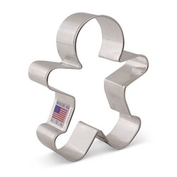 "Gingerbread Boy Cookie Cutter - 3-3/4"" LARGE"