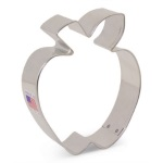 Apple w/Leaf Cookie Cutter