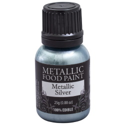 Metallic Food Paint - Silver LARGE
