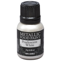 Metallic Food Paint - Pearlescent White LARGE