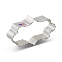 Plaque Cookie Cutter - Long Fancy LARGE