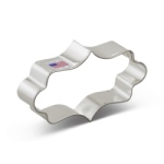 Plaque Cookie Cutter - Long Fancy