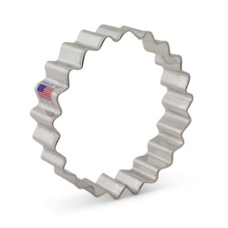 "Fluted Circle Cookie Cutter - 4"" LARGE"