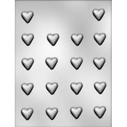 "Plain Mini Heart Chocolate Mold - 7/8"" LARGE"