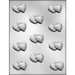 Double Hearts Chocolate Mold LARGE
