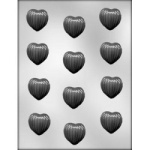 Ribbed Heart Chocolate Mold - 1-1/4""