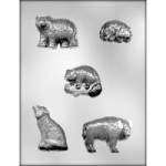 North American Animals Chocolate Mold