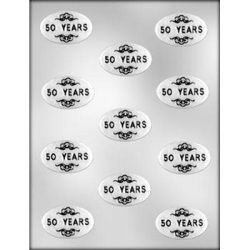 "Oval ""50 Years"" Chocolate Mold LARGE"