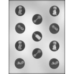 Baby Mint Assortment Chocolate Mold - 1 1/4""