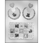 Baby Quilt & Bib Chocolate Mold