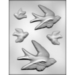 Bird Assortment Chocolate Mold