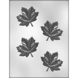 "Maple Leaf Chocolate Mold - 3"" LARGE"