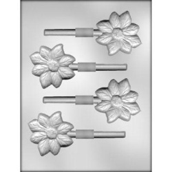 "Flower Chocolate Sucker Mold - 2 3/4"" LARGE"