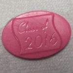 "Class of ""2016"" Oval Chocolate Mint Mold"