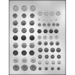 Button Assortment Chocolate Mold LARGE