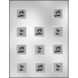 Music Notes On Square Chocolate Mold LARGE