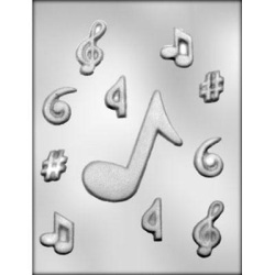 Music Note Assortment Chocolate Mold LARGE