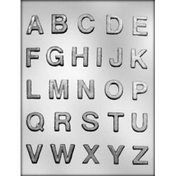 "Alphabet Chocolate Mold - 1"" LARGE"
