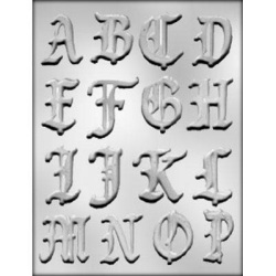 "Alphabet A-P Chocolate Mold - 2"" LARGE"