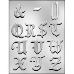 Alphabet Q-Z Chocolate Mold - 2""