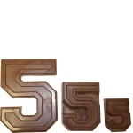 "Collegiate Number ""5"" Chocolate Mold THUMBNAIL"