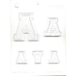 "Collegiate Letter ""A"" Chocolate Mold LARGE"