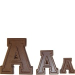 "Collegiate Letter ""A"" Chocolate Mold THUMBNAIL"