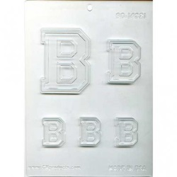 "Collegiate Letter ""B"" Chocolate Mold_LARGE"