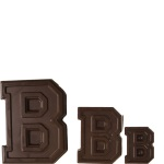 "Collegiate Letter ""B"" Chocolate Mold THUMBNAIL"