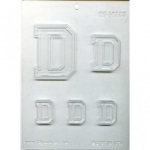 "Collegiate Letter ""D"" Chocolate Mold"