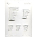 "Collegiate Letter ""F"" Chocolate Mold"