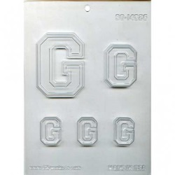 "Collegiate Letter ""G"" Chocolate Mold LARGE"