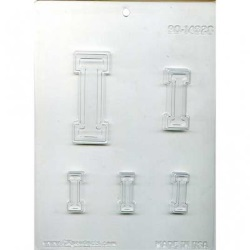 "Collegiate Letter ""I"" Chocolate Mold LARGE"