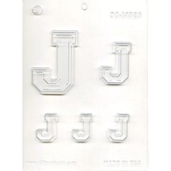 "Collegiate Letter ""J"" Chocolate Mold LARGE"