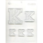 "Collegiate Letter ""K"" Chocolate Mold THUMBNAIL"