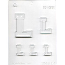 "Collegiate Letter ""L"" Chocolate Mold LARGE"
