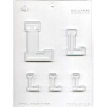 "Collegiate Letter ""L"" Chocolate Mold"