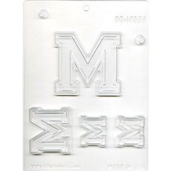"Collegiate Letter ""M"" Chocolate Mold LARGE"