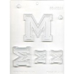 "Collegiate Letter ""M"" Chocolate Mold THUMBNAIL"