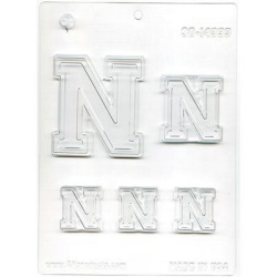"Collegiate Letter ""N"" Chocolate Mold LARGE"