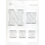 "Collegiate Letter ""N"" Chocolate Mold THUMBNAIL"