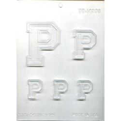 "Collegiate Letter ""P"" Chocolate Mold_LARGE"