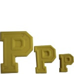 "Collegiate Letter ""P"" Chocolate Mold THUMBNAIL"