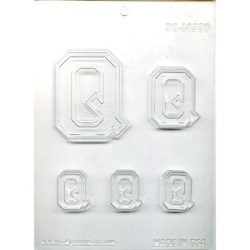 "Collegiate Letter ""Q"" Chocolate Mold LARGE"