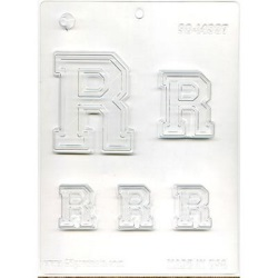"Collegiate Letter ""R"" Chocolate Mold LARGE"